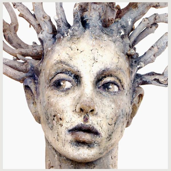 tree spirit sculptures figurative clay Tatjana Raum