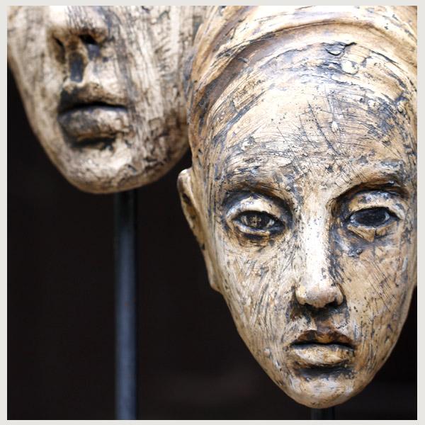 sculptures figurative clay Tatjana Raum